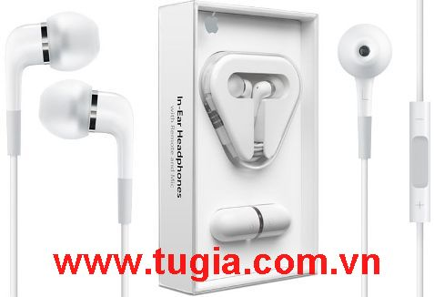 Tai Apple In-Ear Headphones With Remote and Mic