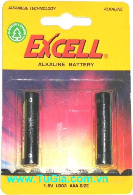 EXCELL LR03 Alkaline Battery size AAA