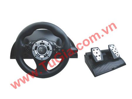 Vô lăng đua xe Blackhorns BH-MUL03401 PS2/PC R-SPEC Steering Wheel