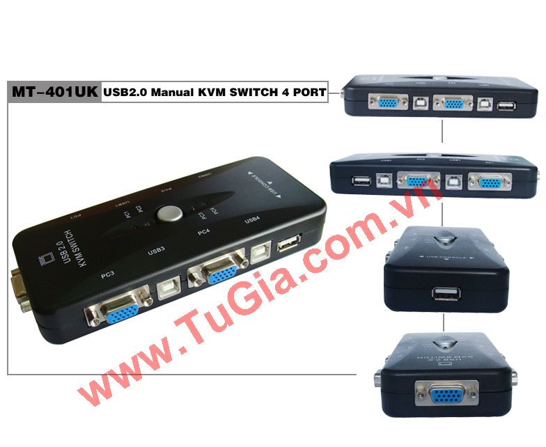 KVM Switch4 Port cổng USB