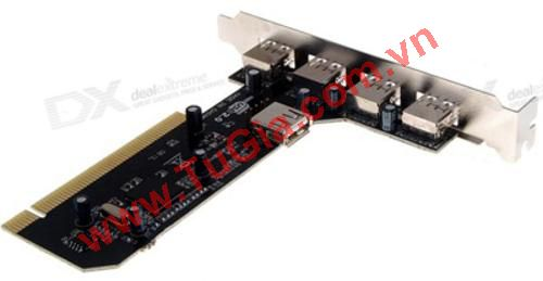 Card PCI to 4 usb 2.0