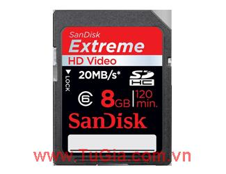 SDHC 8GB Sandisk Extreme HD Video