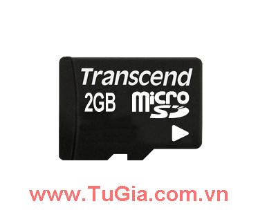 Micro SD 2GB Transcend + Adapter