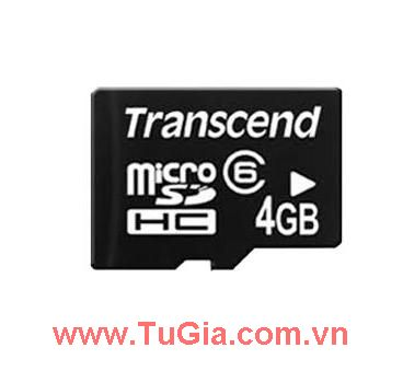 Micro SDHC 4GB Transcend Class 6 without Adapter