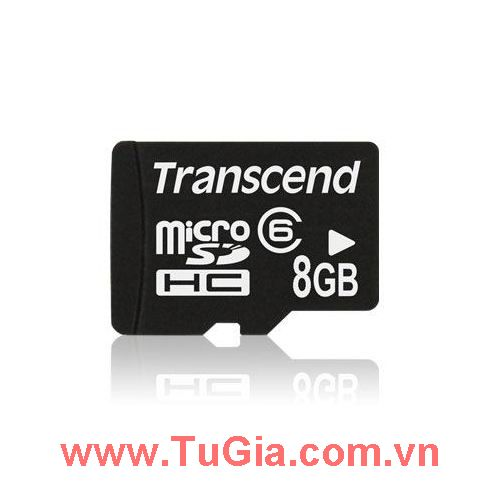 Micro SDHC 8GB Transcend Class 6 without Adapter