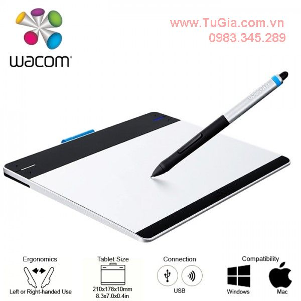 Bảng vẽ Wacom Intuos Small Pen&Touch Tablet CT