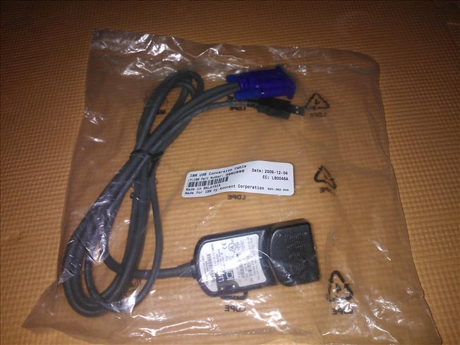 IBM 1.5M USB KVM Conversion Cable 39M2899 FRU: 39M2909