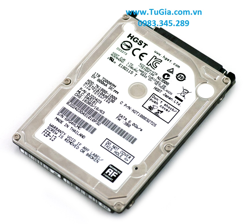 HDD Laptop Hitachi HGST Travelstar 1TB 7200rpm SAT