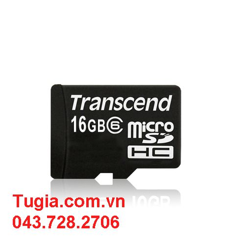 Micro SDHC 16GB Transcend Class 6 without Adapter
