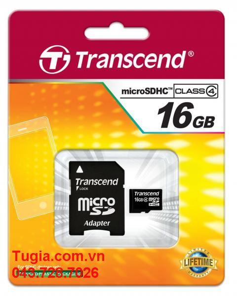 Micro SDHC 16GB Transcend Class 2 without Adapter