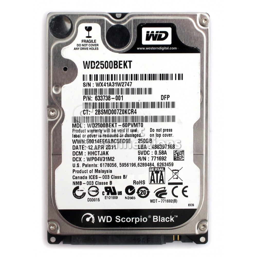 WD 250Gb Scorpio BLACK -Notebook