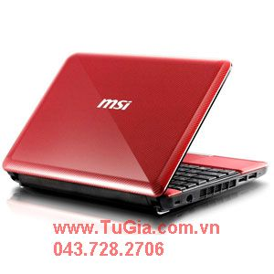 MSI U135DX N014 Black/Blue Silver/Red