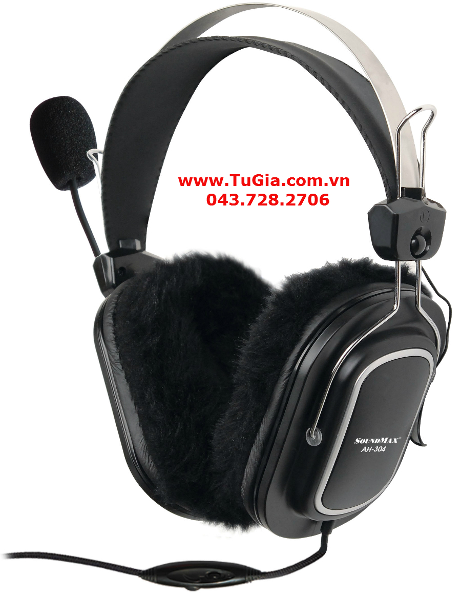 Tai nghe SOUNDMAX AH-304 (Black) for PC & Laptop