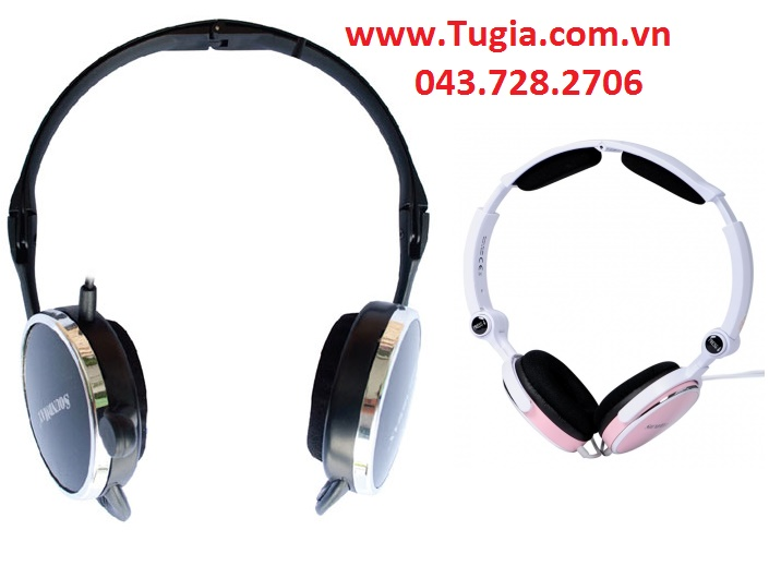 Tai nghe SOUNDMAX AH308 (Black/ Pink) headphone for PC & Laptop