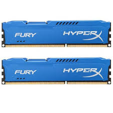 Ram Kingston 8G 1600MHZ DDR3 CL10 Dimm (kit of 2) HyperX Fury Blu