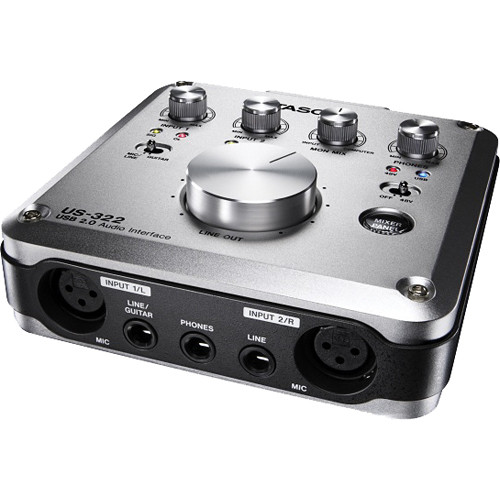 Card Sound thu âm Tascam US-322 - USB 2.0 Audio Interface with DSP Mixer