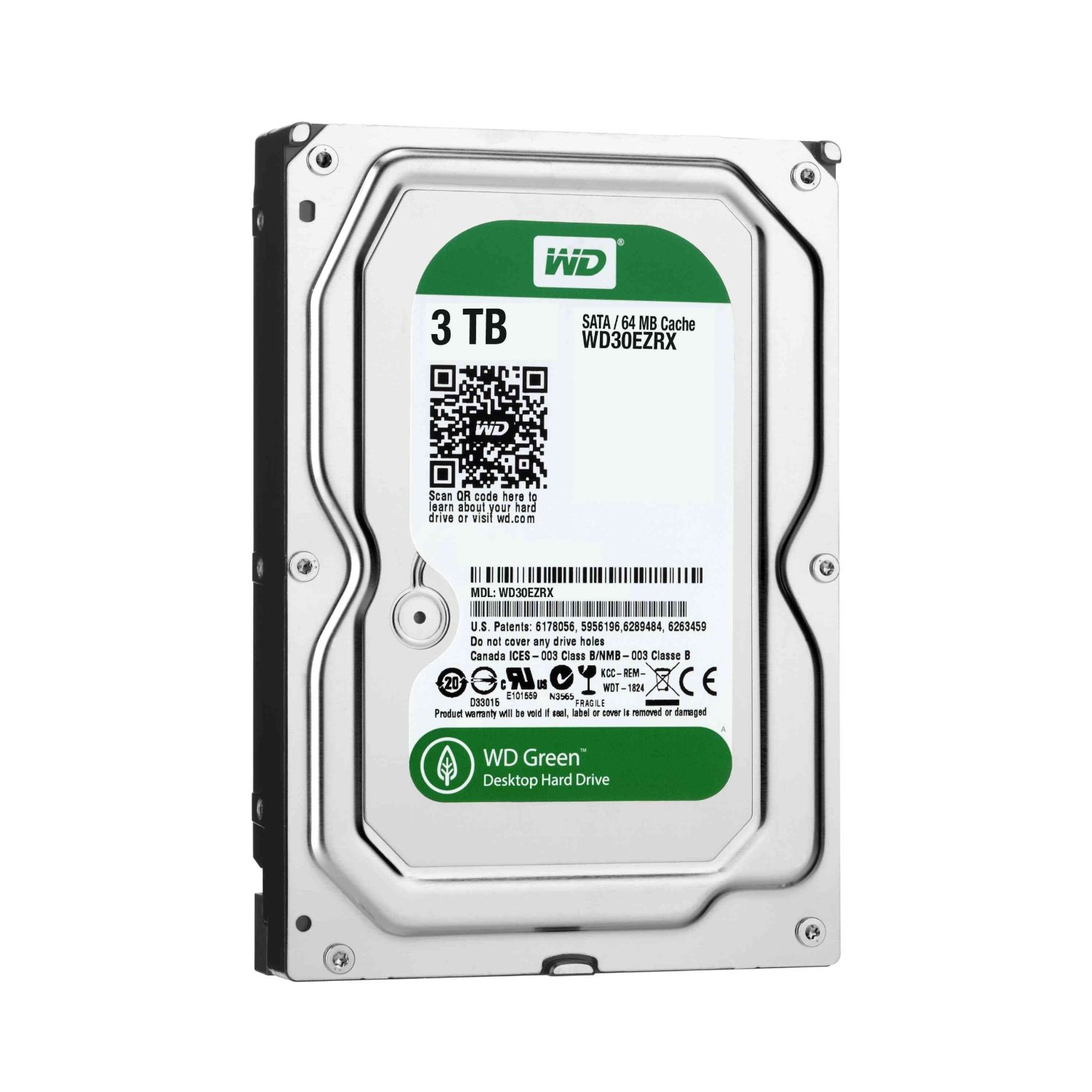 Ổ cứng WD HDD Caviar Green 3TB 3.5'' SATA 3/64MB Cache/ IntelliPower