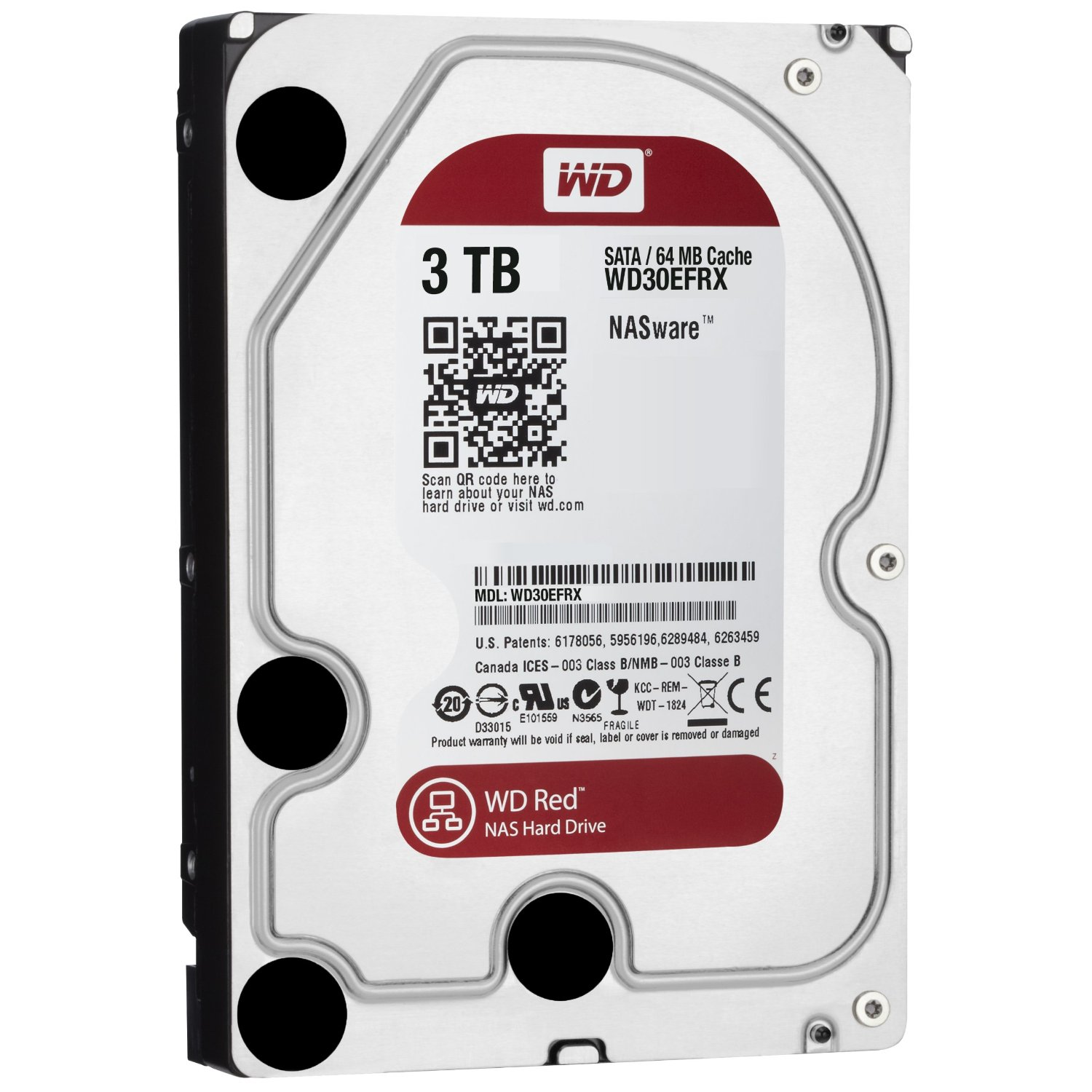 Ổ cứng WD HDD Caviar Red 3TB 3.5''SATA 3/ 64MB Cache/ IntelliPower