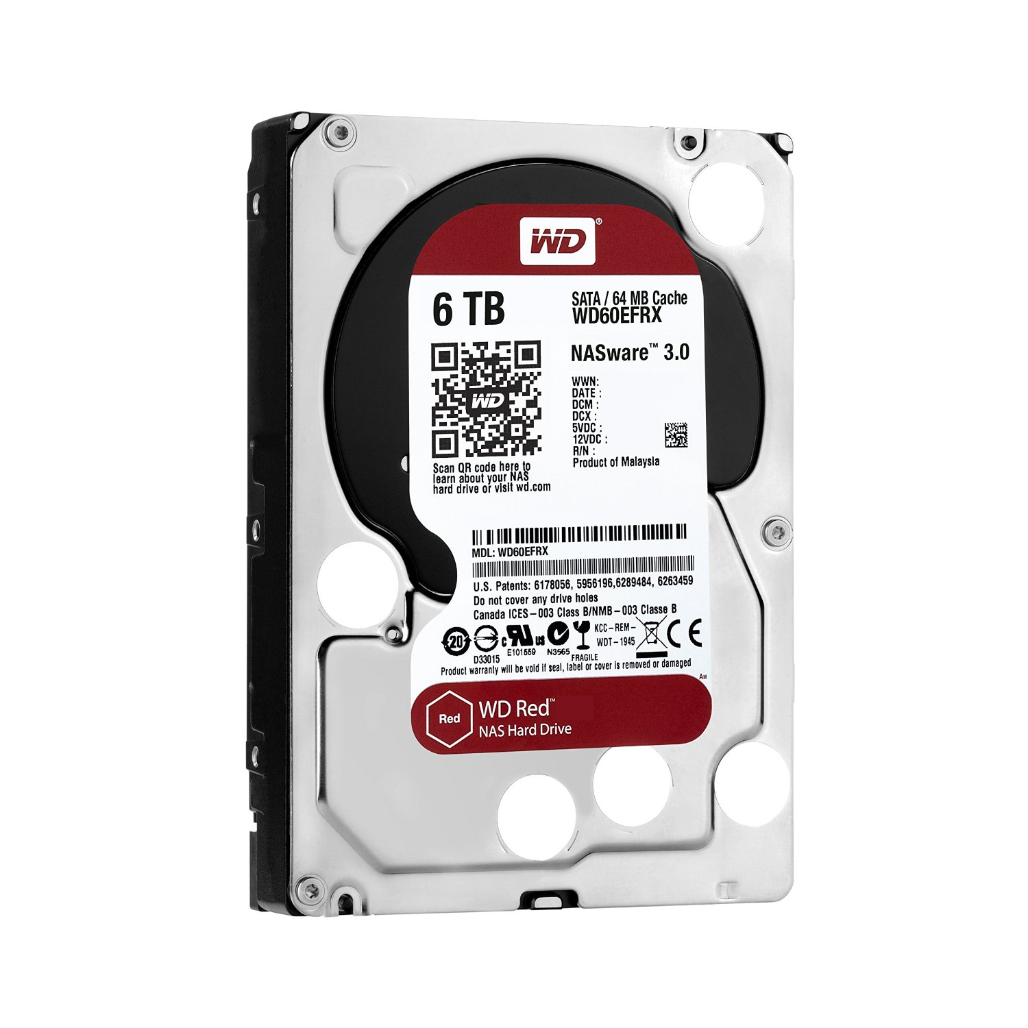 Ổ cứng WD HDD Caviar Red 6TB 3.5''SATA 3/ 64MB Cache/ IntelliPower