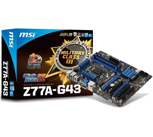 MAINBOARD MSI Z77A-G43