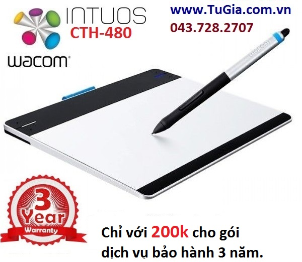 Bảng vẽ cảm ứng Wacom Intuos Pen & Touch Tablet CTH-480/S2
