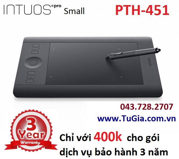 Bảng vẽ Wacom Intuos Pro Touch Small PTH-451 (