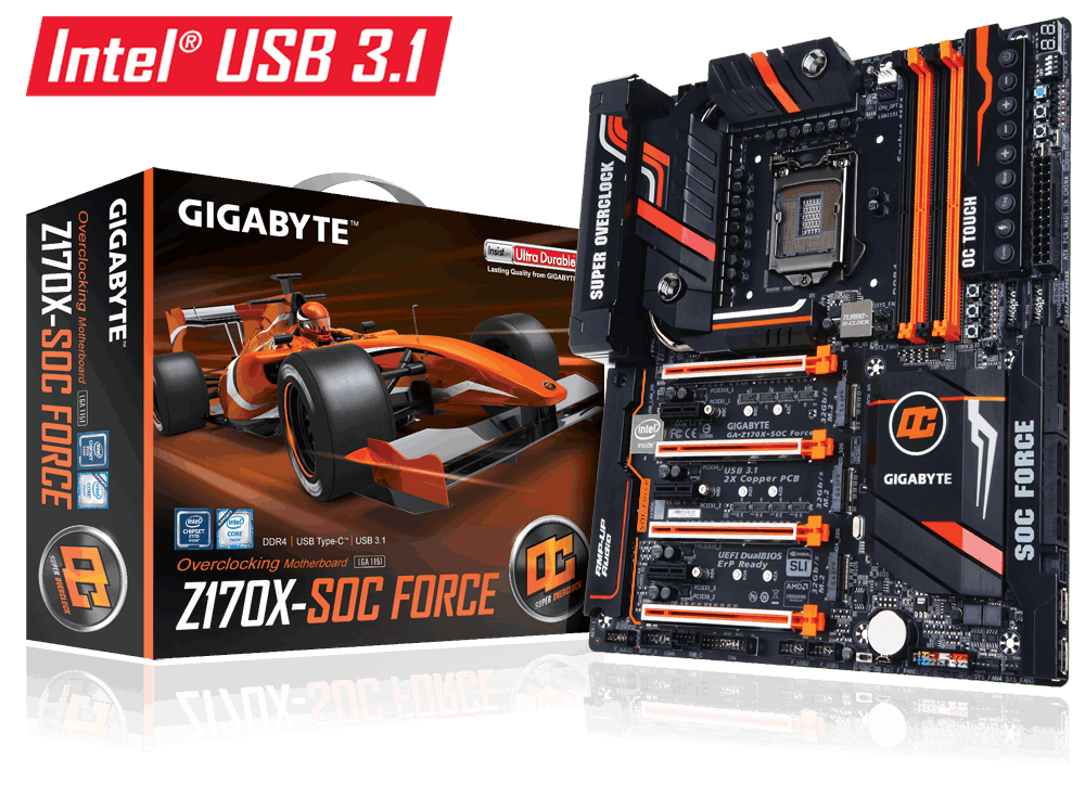 MAIN GIGABYTE™ GA-Z170X-SOC FORCE