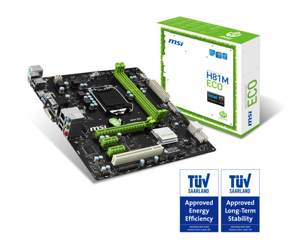 MAINBOARD MSI H81M Eco