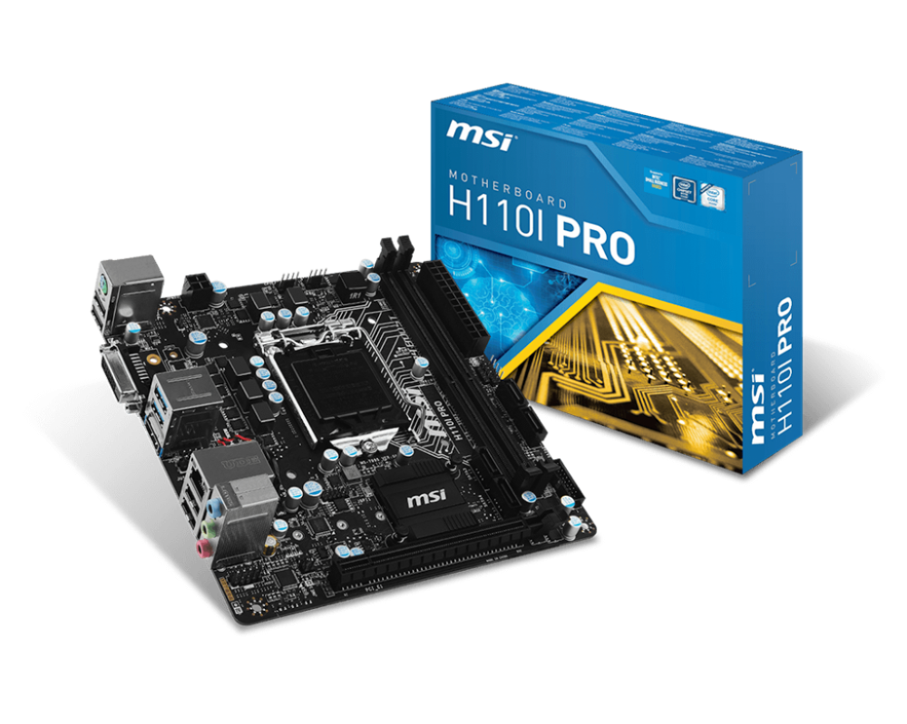 MAINBOARD MSI H110i PRO (Pro Series - ITX) - Bo mạch Mini iTX cho Mini PC