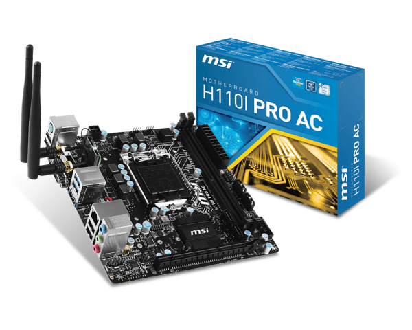 MAINBOARD MSI H110i PRO AC (Pro Series - ITX)-Bo mạch Mini iTX cho Mini PC