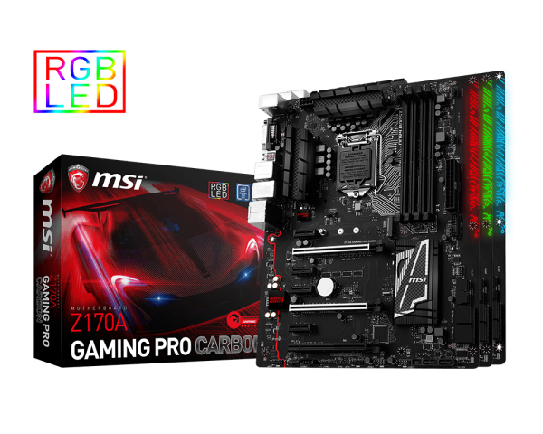 MAINBOARD MSI Z170A GAMING PRO CARBON → Số 1 cho Game thủ!