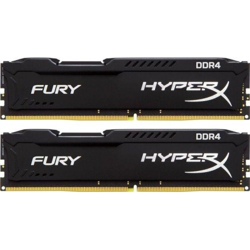 Ram Kingston 8GB 2133Mhz DDR4 CL14 DIMM Fury HyperX Black, Kit of 2