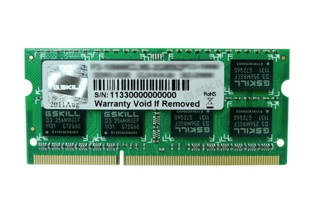 Ram Laptop GSkill DDR3 2GB bus 1600 - SQ series F3-12800CL9S-2GBSQ