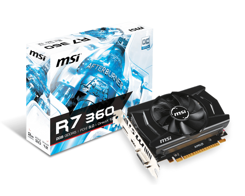 VGA MSI R7 360 2GD5 2GB GDDR5 OC
