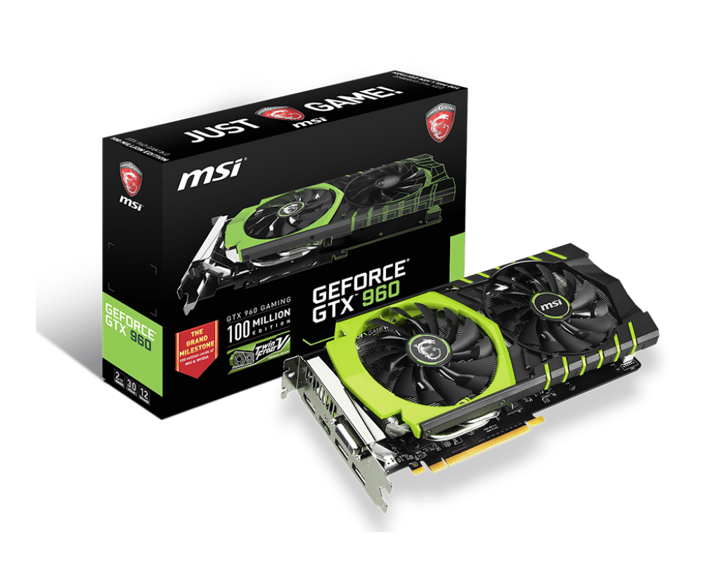 VGA MSI GTX 960 2GB GDDR5 GAMING 100 Million Editi