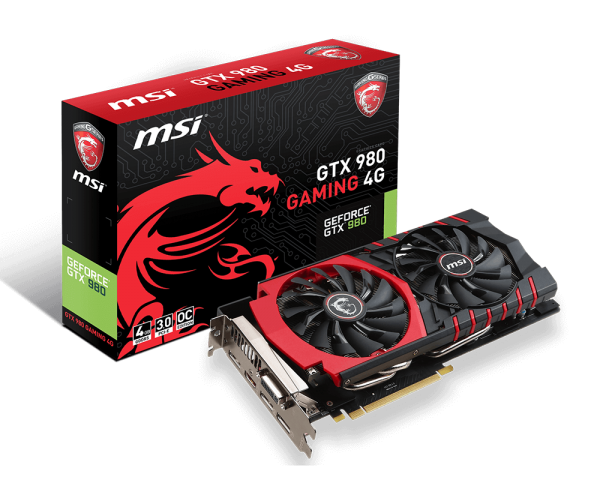 VGA MSI GTX 980 GAMING 4GB  DDR5
