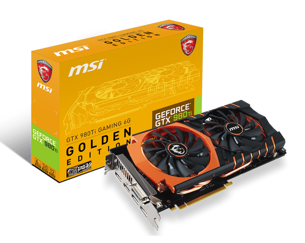 VGA MSI GTX 980Ti GAMING 6G  GOLDEN EDITION