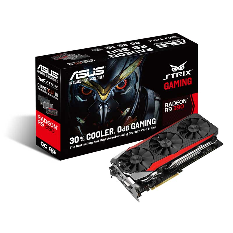 VGA ASUS STRIX R9390-DC3OC-8GD5-GAMING (512bits)