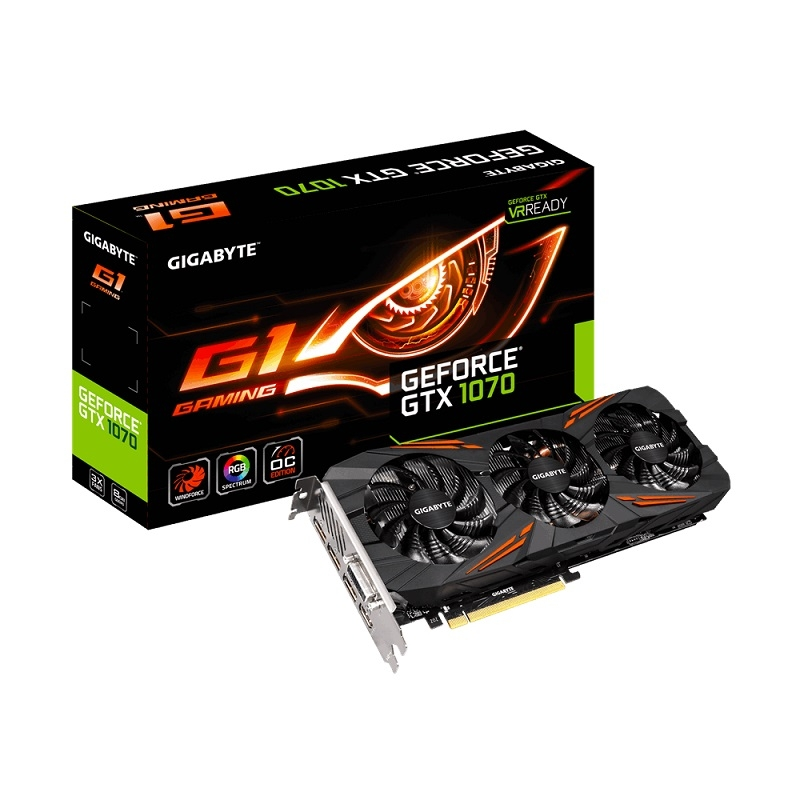 VGA GIGABYTE GeForce GTX 1070 G1 Gaming (GV-N1070G1 GAMING-8GD)