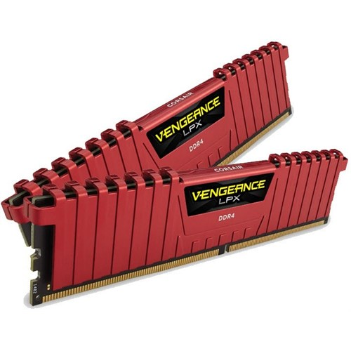 Ram PC Corsair Vengeance LPX 16GB (2x8GB) DDR4 2400MHz C14 Memory Kit Red (CMK16GX4M2A2400C14R)