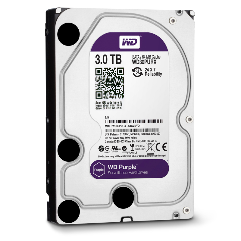 Ổ cứng Western Digital Purple 3TB 64MB Cache