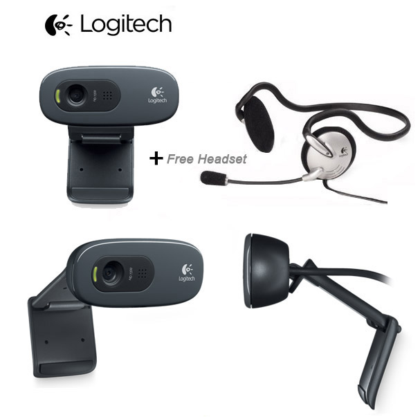 Quickcam Logitech C270H HD (Logitech HD Webcam C270 + Mono Headset - FE)
