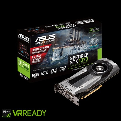 Asus GTX1070-8G (NVIDIA Geforce/ 8Gb/ DDR5/ 256Bit)