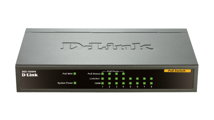PoE Switch D-LINK DES-1008PA 8 port 10/100BASE-T (