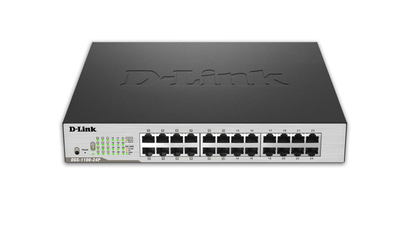 DGS-1100 Series Smart Managed 24-Port Gigabit PoE