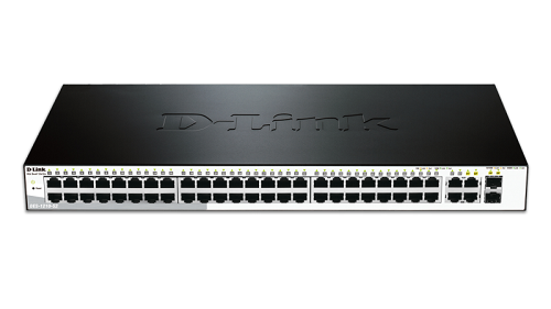 52-Port Fast Ethernet WebSmart Switch, including 2 Gigabit BASE-T and 2 Gigabit Combo BASE-T/SFP