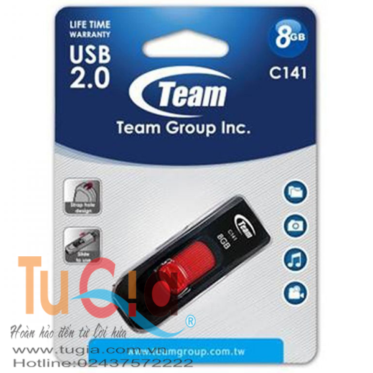 USB TEAMGROUP C141 DRIVE 8GB