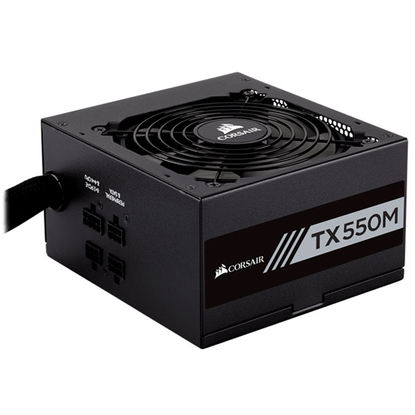 Nguồn CORSAIR TX550M - 80 Plus Gold - Semi Modul - New CP-9020133-NA