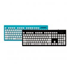 Ban phím Neo K201 Wired USB Keyboard Blue, Spill