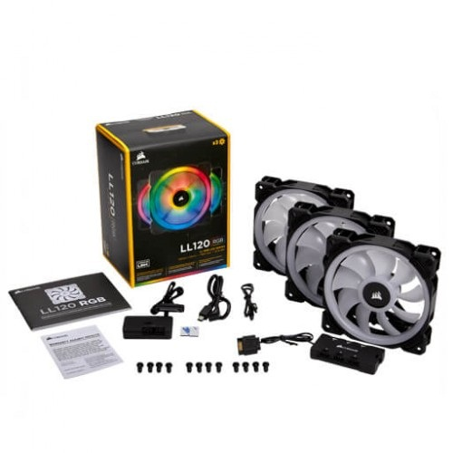 Quạt tản nhiệt Corsair LL120 RGB Triple Pack + Lighting   (CO-9050072-WW)